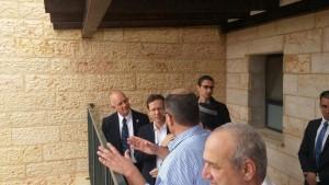 יצחק הרצוג באריאל.צילום דוברות עיריית אריאל