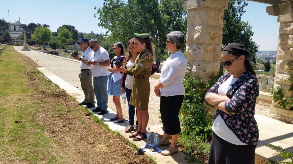 ביוזמת משה יוגב התקיים טקס אזכרה לחיילים יהודים בצבא הבריטי