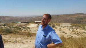 יהודה גליק בעמונה.צילום באדיבות מטה עמונה