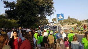 תושבי עמונה מפגינים מול הכנסת.צילום מטה המאבק