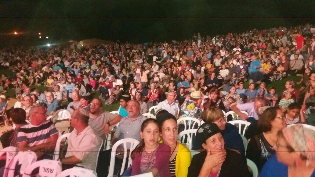 אלפי משתתפים בפסטיבל ברבבה.צילום ראובן גור אריה