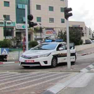 משטרת ישראל בפעולה בענתות.צילום עמיעד טאוב