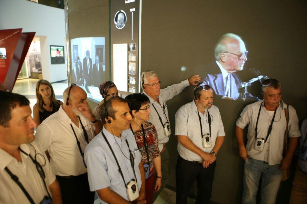 """ביקור היסטורי של מועצת יש""""ע במרכז יצחק רבין"""