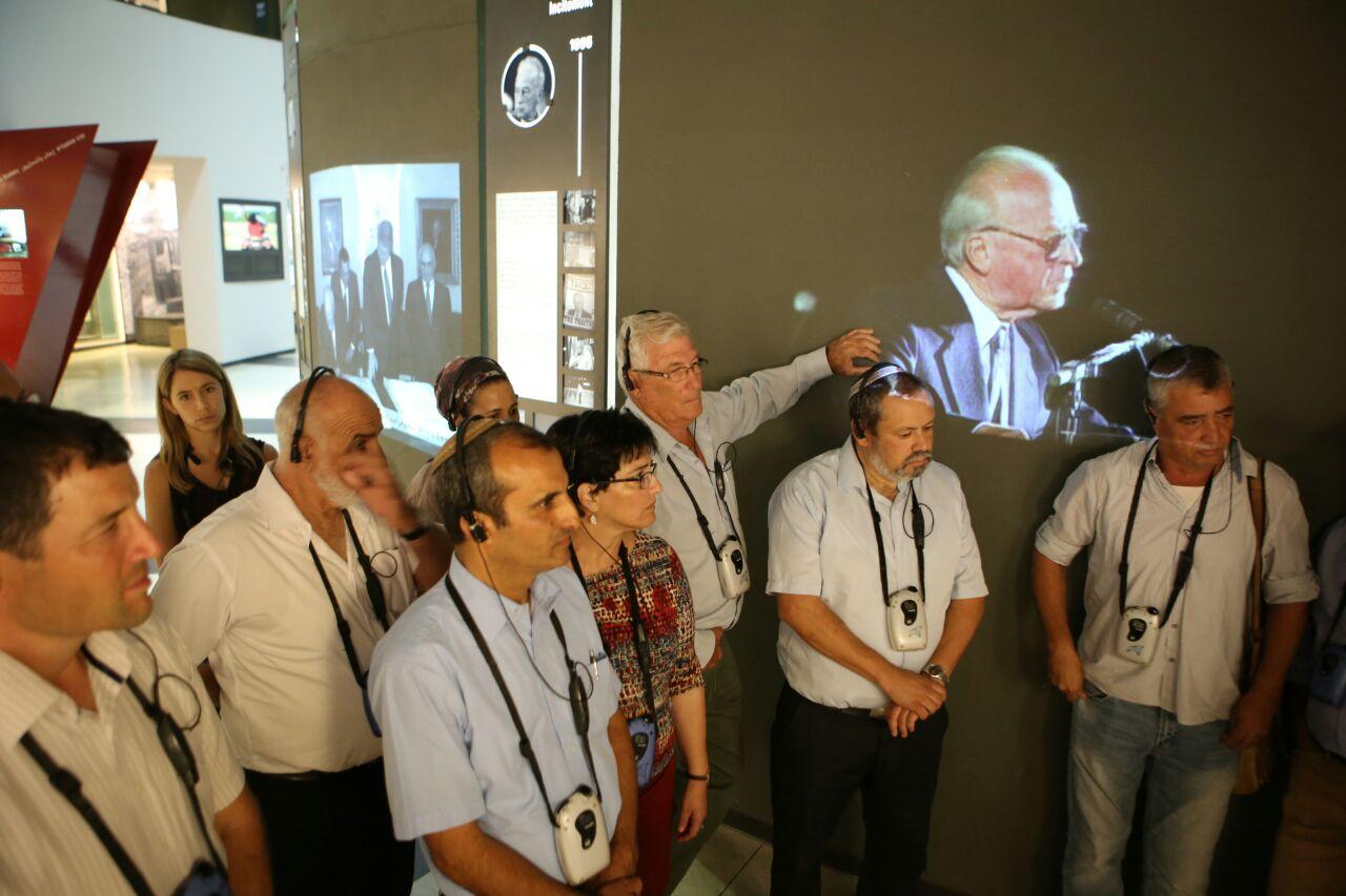 מועצת ישע בביקור במרכז רבין.צילום איתן אלחדז
