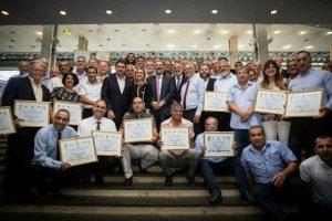 ראשי רשויות מיהודה ושומרון זכו בפרס ניהול תקין .צילום באדיבות מועצת ישע