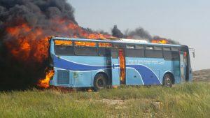 אוטובוס שהציג ראש מועצת דרום הר חברון בדיון בנושא תחבורה ביו''ש.צילום באדיבות לשכת חכ יוגב