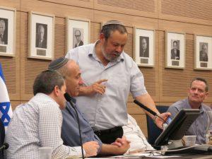 דיון בועדת המשנה - ראש מועצת דרום הר חברון וח''כ יוגב בדיון בעניין יו''ש.צילום לשכת חכ יוגב