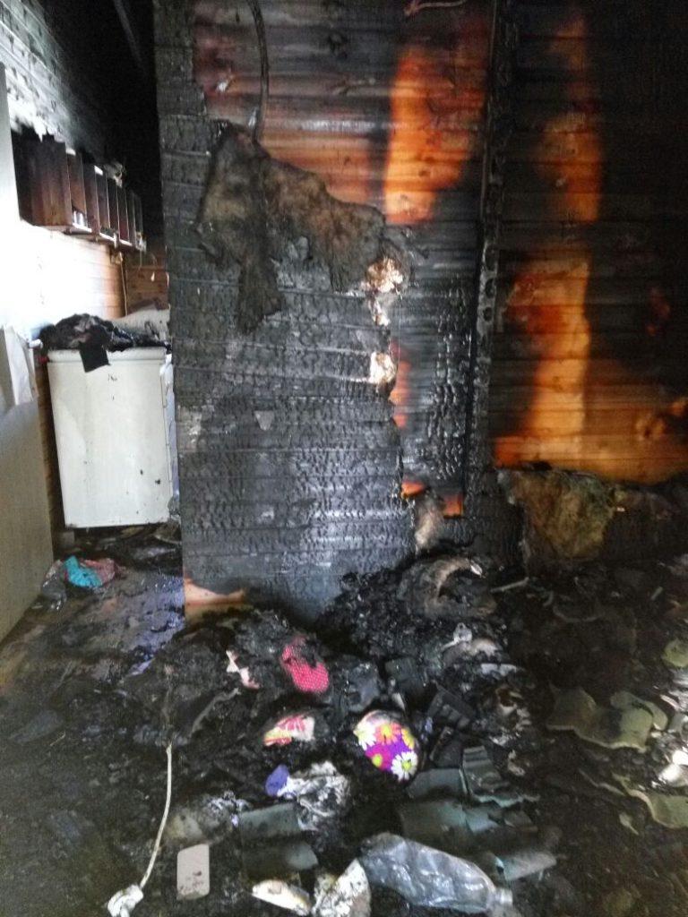 יצהר:הבית עלה באש, המשפחה נחלצה מהלהבות