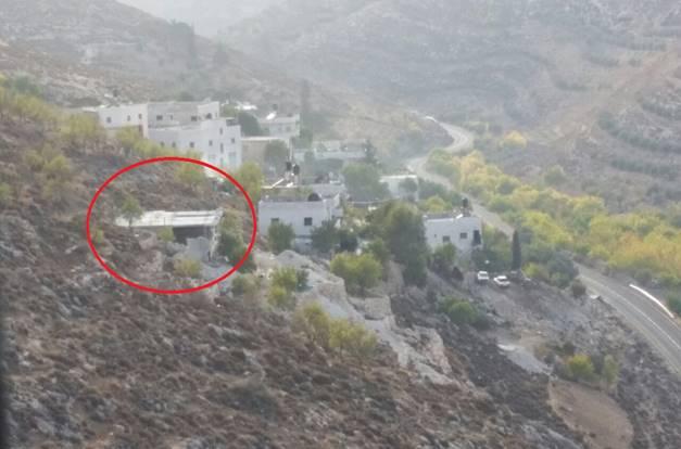 בנייה בלתי חוקית במאחז הפלסטיני בגוש עציון