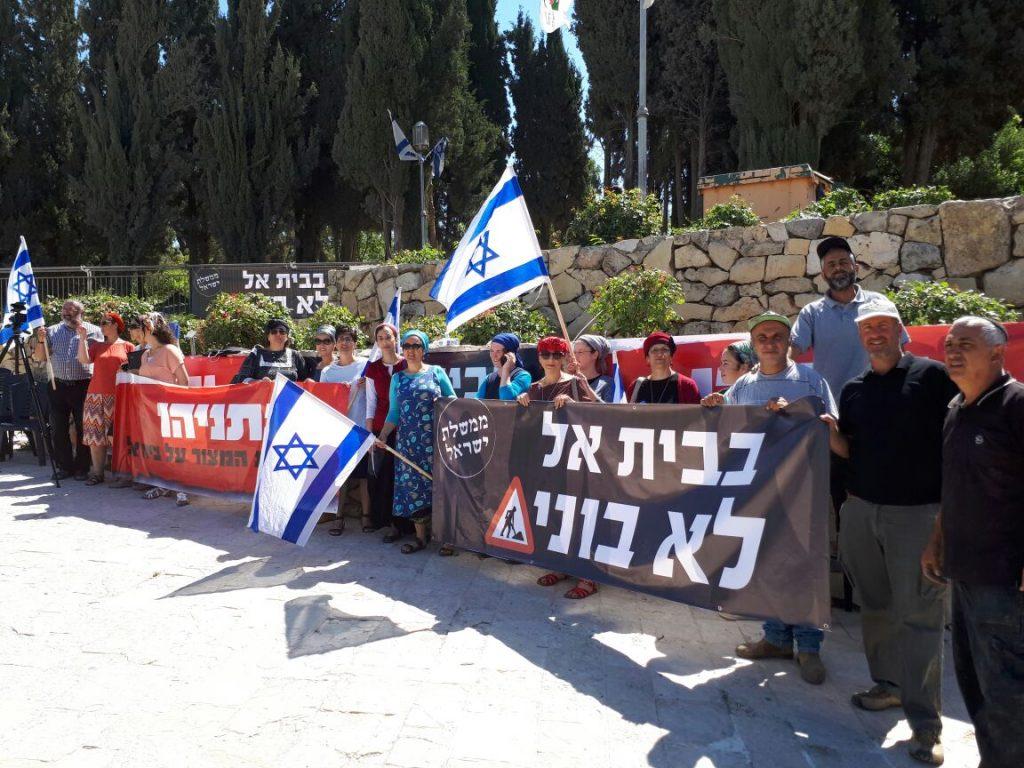 בית אל נגד ראש הממשלה במחאה על הפרת הבטחות הבניה