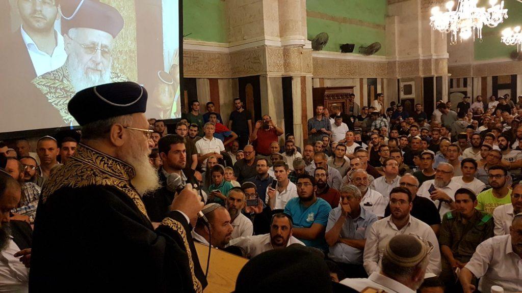 """הרב הראשי לראש הממשלה: """"לבנות את היישוב היהודי בחברון""""."""