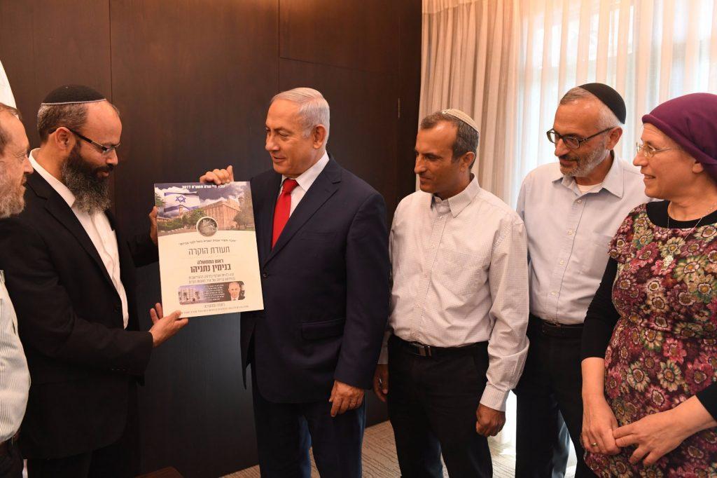 """ראש הממשלה: """"להפריד בין הישוב היהודי בחברון לישראל זה כמו לעקור את הלב, לכן זה לא יקרה""""."""