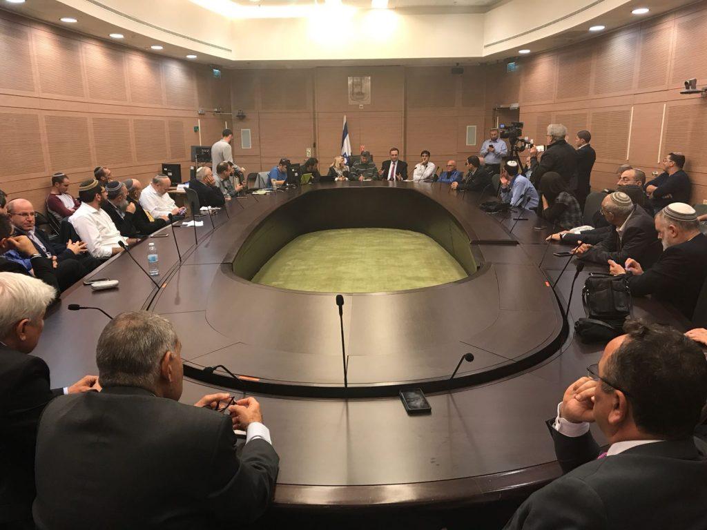 """כינוס פעילי ליכוד בדרישה להחלטה על תמיכת הליכוד בהחלת הריבונות הישראלית ביו""""ש"""