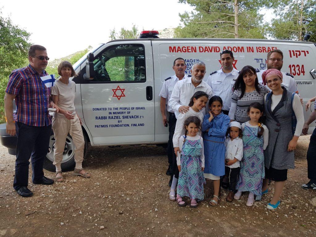 """אמבולנס חדש הוקדש לזכרו של הרב רזיאל שבח הי""""ד שנרצח בפיגוע בשומרון"""