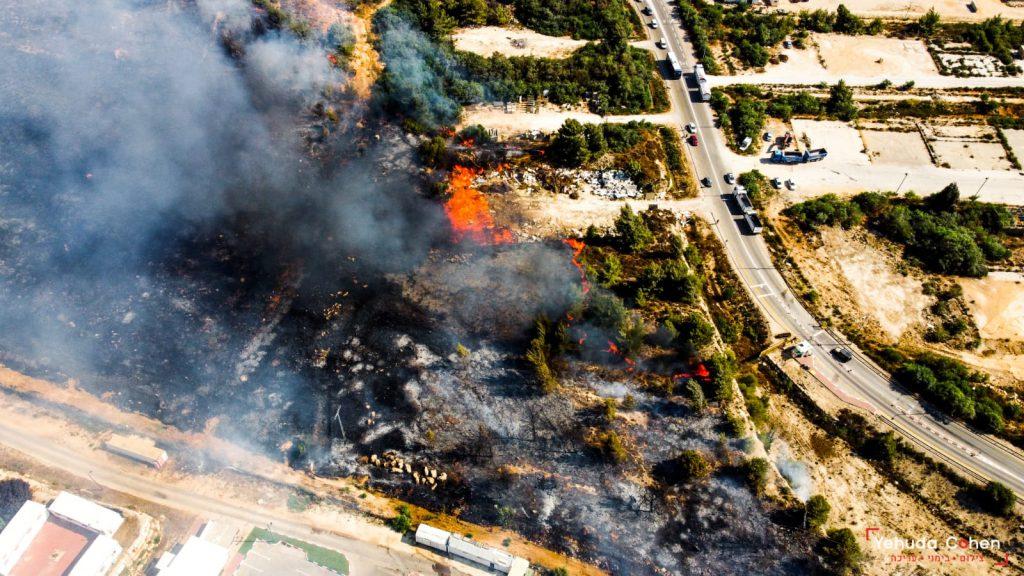 הושגה שליטה על האש סמוך לבית אל, אין סכנה ליישוב