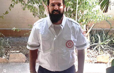 """25 שנים לאחר שאביו נרצח בפיגוע ו-3 שנים לאחר שכמעט נהרג בעצמו – דניאל מסיקה יציל חיים כחובש במד""""א"""