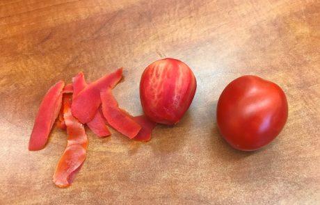 עגבנייה מתוקה מזן חדש, שניתן לקלף בקולפן