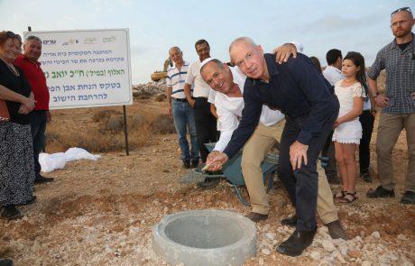 השר גלנט הניח אבן פינה ל650 בתים חדשים בבית אריה