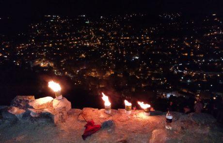 אורות מהר עיבל – הדלקת הנרות של נוער יצהר