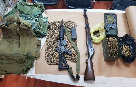 נתפסו מספר רב של כלי נשק ותחמושת בפשיטה באזור חברון