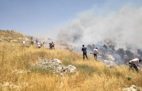 ראשוני: מזבלה לא חוקית שהבעירו ערבים יצאה משליטה – האש עולה לכיוון יצהר