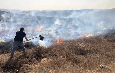 שריפת קוצים בבית חגי – תושבים פונו מבתיהם