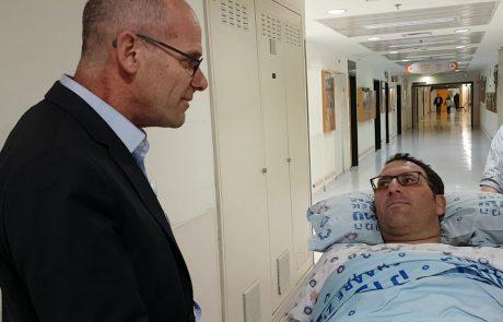 חודש לאחר התאונה הקשה: אפרים רימל שוחרר הבוקר מהמרכז הרפואי שערי צדק ועבר לשיקום בתל השומר