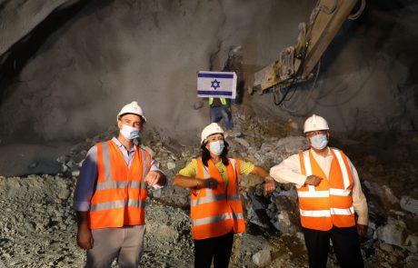 נפרצה המנהרה הראשונה בפרויקט הרחבת כביש 60