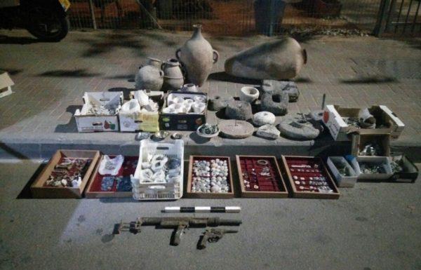 אוסף עתיקות גנוב נתפס בכפר חווארה